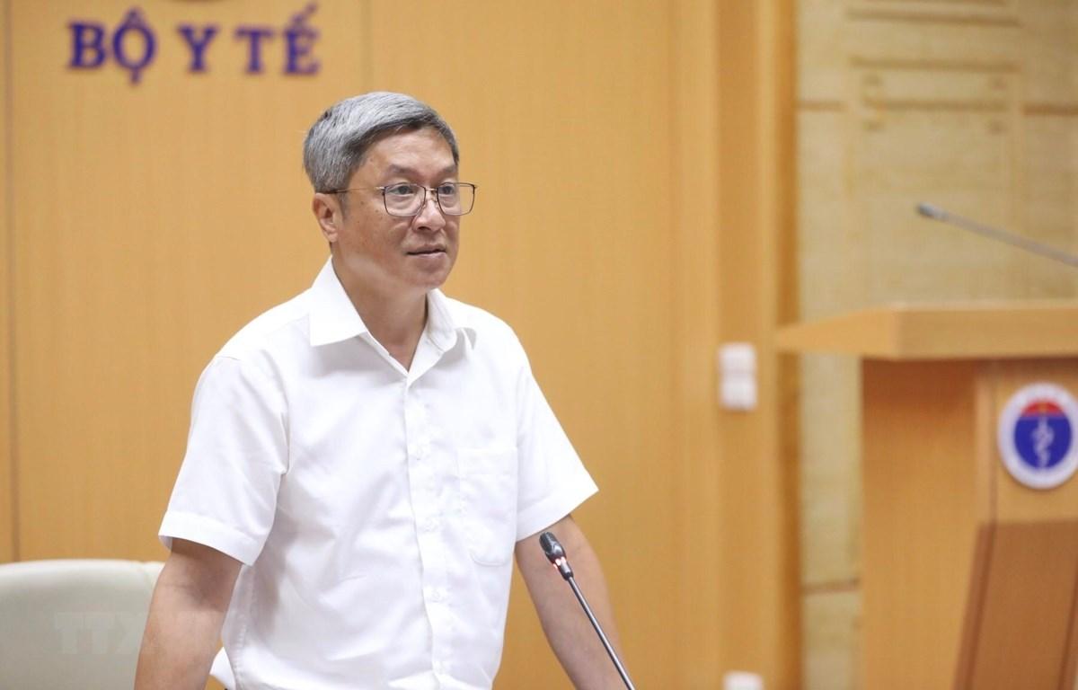 Thứ trưởng Bộ Y tế Nguyễn Trường Sơn. (Ảnh: Minh Quyết/TTXVN)