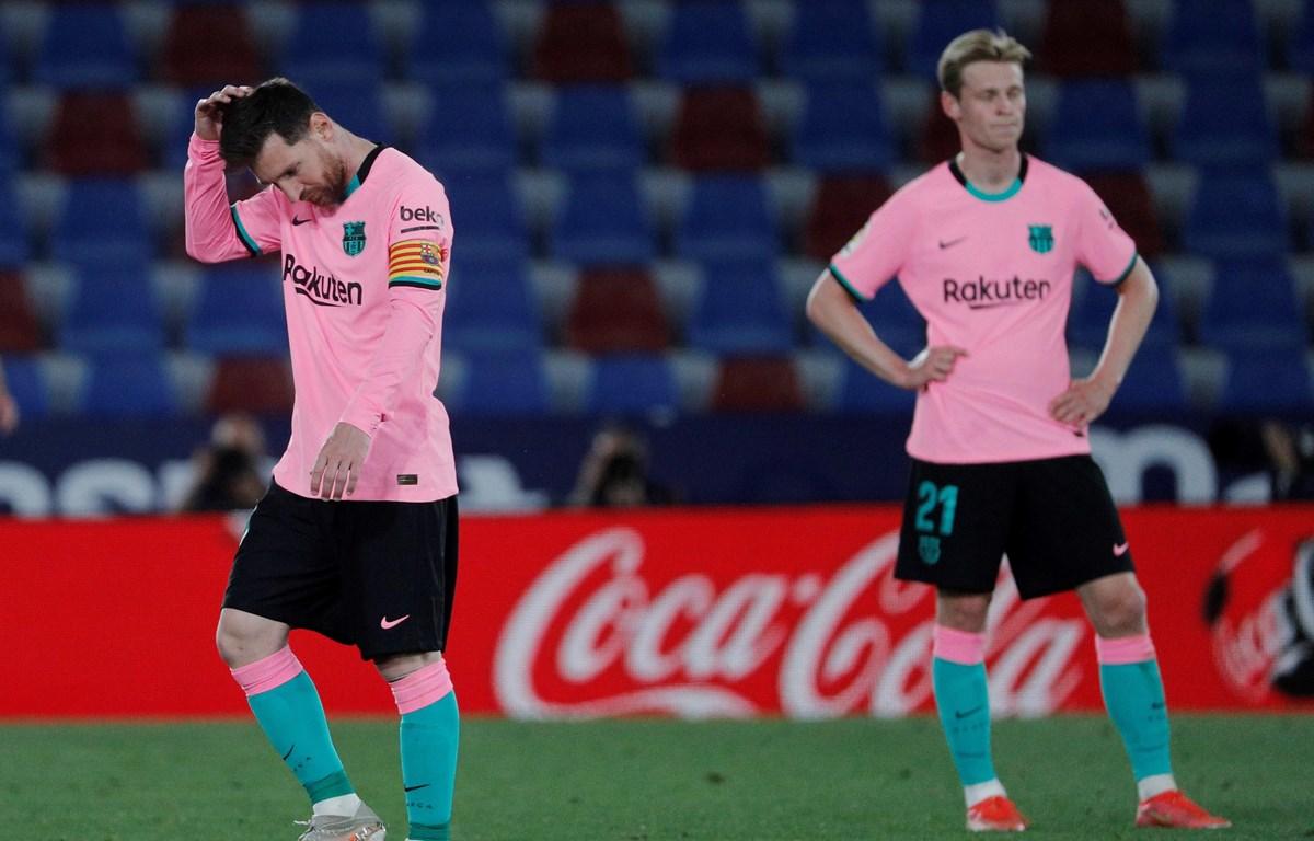 Barcelona hụt hơi trong cuộc đua đến ngôi vương. (Nguồn: Getty Images)