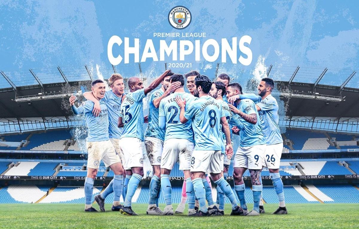 Manchester City lên ngôi Premier League mùa này. (Nguồn: ManCityFC)