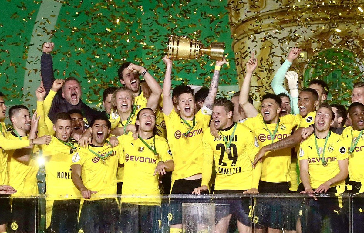 Dortmund lần thứ 5 giành Cúp Quốc gia Đức. (Nguồn: Getty)