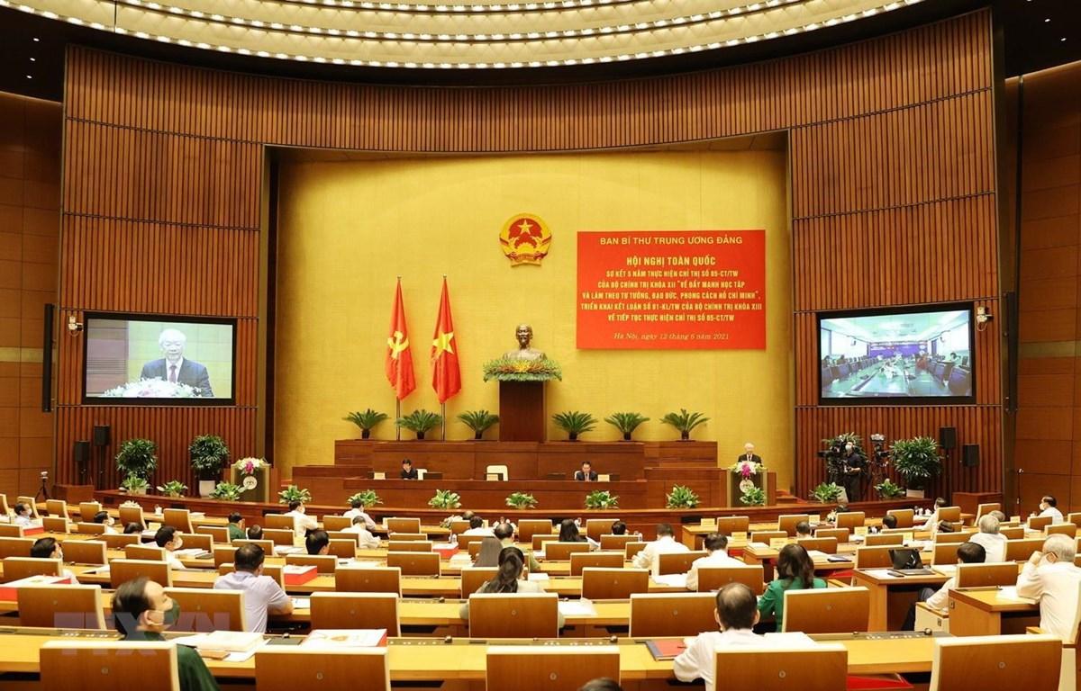 Tổng Bí thư Nguyễn Phú Trọng phát biểu chỉ đạo hội nghị. (Ảnh: Trí Dũng/TTXVN)
