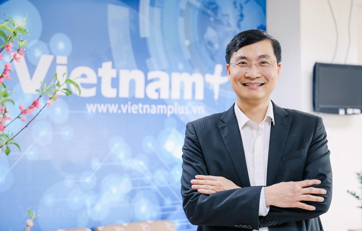 Nhà báo Trần Tiến Duẩn, Tổng biên tập Báo điện tử VietnamPlus. (Ảnh: Vietnam+)