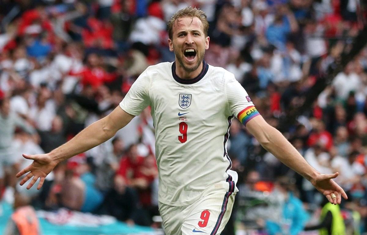 Kane giải tỏa áp lực với bàn ấn định chiến thắng cho tuyển Anh. (Nguồn: Getty Images)