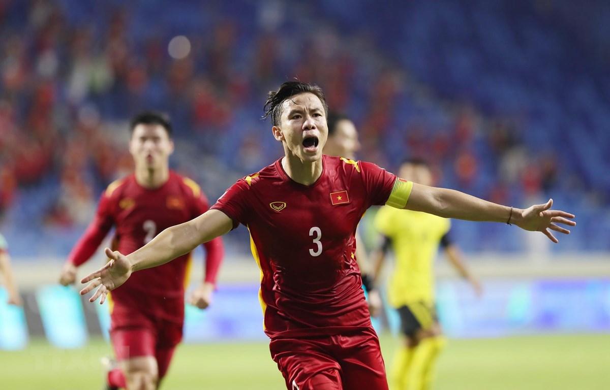 Tuyển Việt Nam chờ đối thủ tại vòng loại thứ 3. (Ảnh: Hoàng Linh/TTXVN)