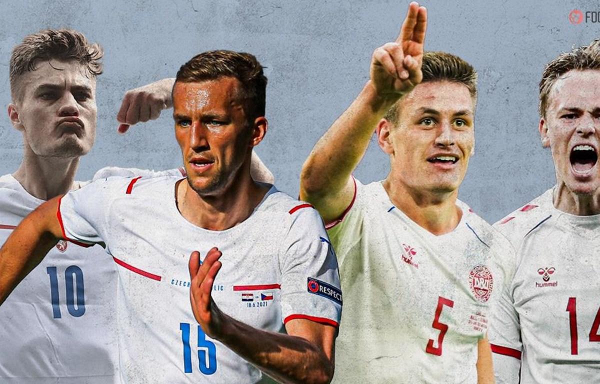 Đan Mạch-Cộng hòa Séc được nhận định là cặp đấu cân sức ở tứ kết EURO 2020. (Nguồn: foottheball)