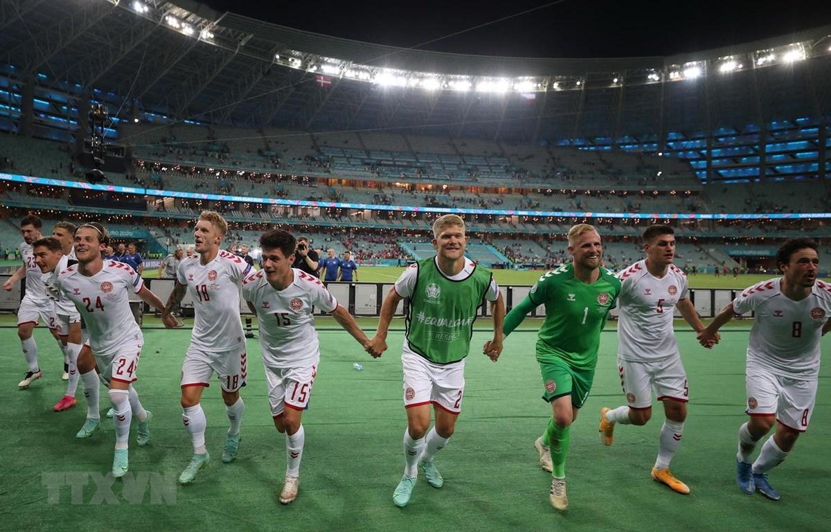 Đan Mạch vào bán kết EURO 2020. (Ảnh: AFP/TTXVN)
