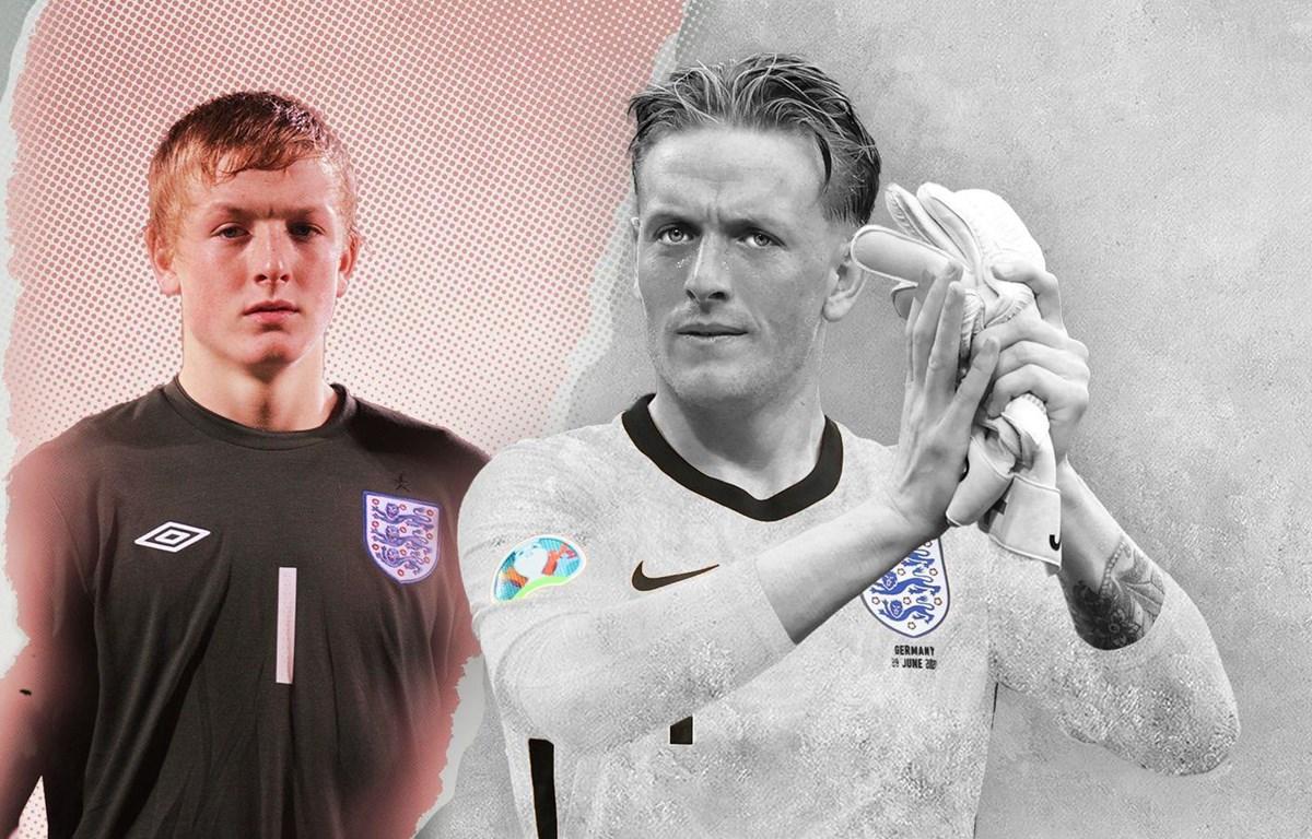 Jordan Pickford đang góp công lớn giúp tuyển Anh vào đến chung kết EURO 2020. (Nguồn: sky)