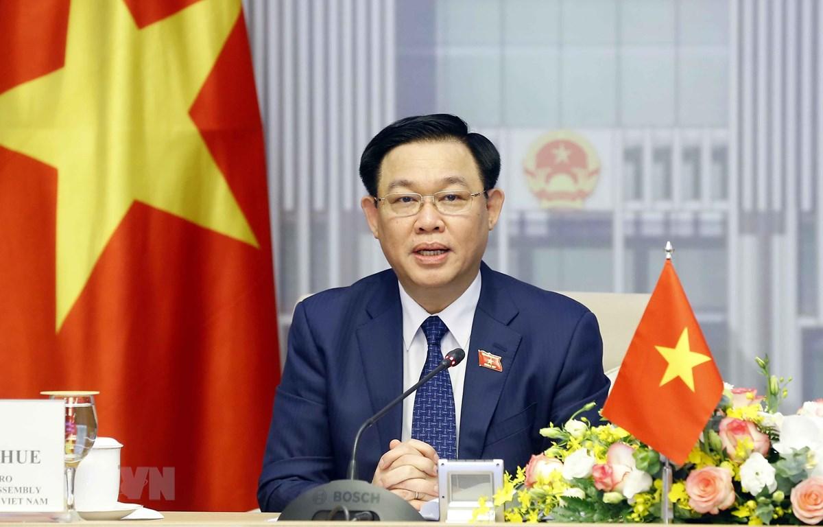 Giáo sư, Tiến sỹ, Ủy viên Bộ Chính trị, Chủ tịch Quốc hội Vương Đình Huệ. (Ảnh: Doãn Tấn/TTXVN)