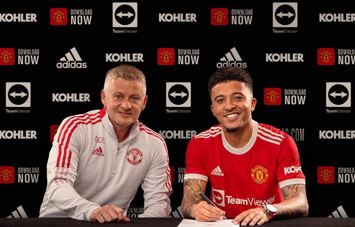 Sancho chính thức gia nhập Manchester United. (Nguồn: Getty Images)