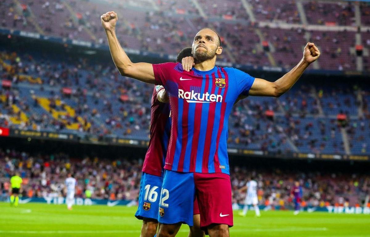Martin Braithwaite tỏa sáng mang chiến thắng về cho Barcelona. (Nguồn: fcbarcelona)