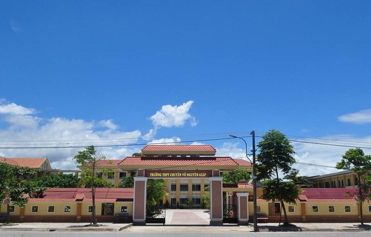Trường Trung học Phổ thông Chuyên Võ Nguyên Giáp. (Nguồn: Fbchuyenvonguyengiap)