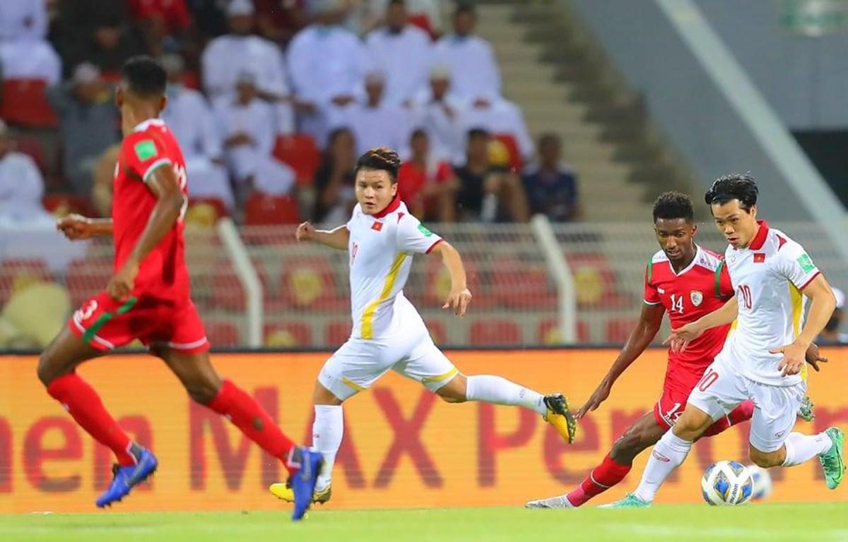 Tuyển Việt Nam thua ngược trước Oman. (Nguồn: VFF)