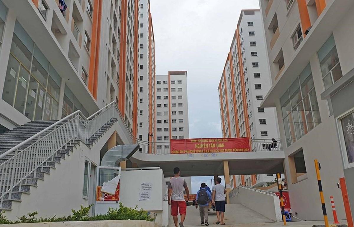 Khu nhà ở xã hội tại thành phố Nha Trang, tỉnh Khánh Hòa. (Ảnh: Nguyễn Dũng/TTXVN)