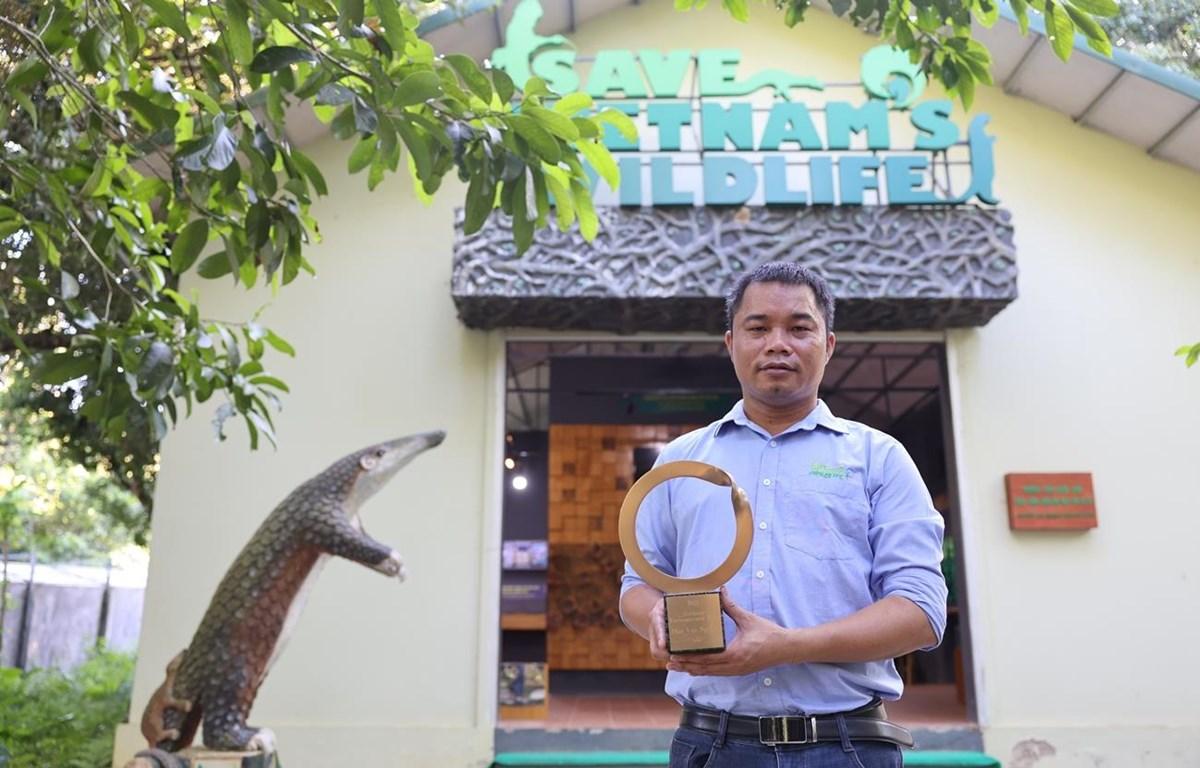 Anh Nguyễn Văn Thái, Giám đốc Trung tâm Bảo tồn động vật hoang dã tại Việt Nam. (Ảnh: Minh Sơn/Vietnam+)