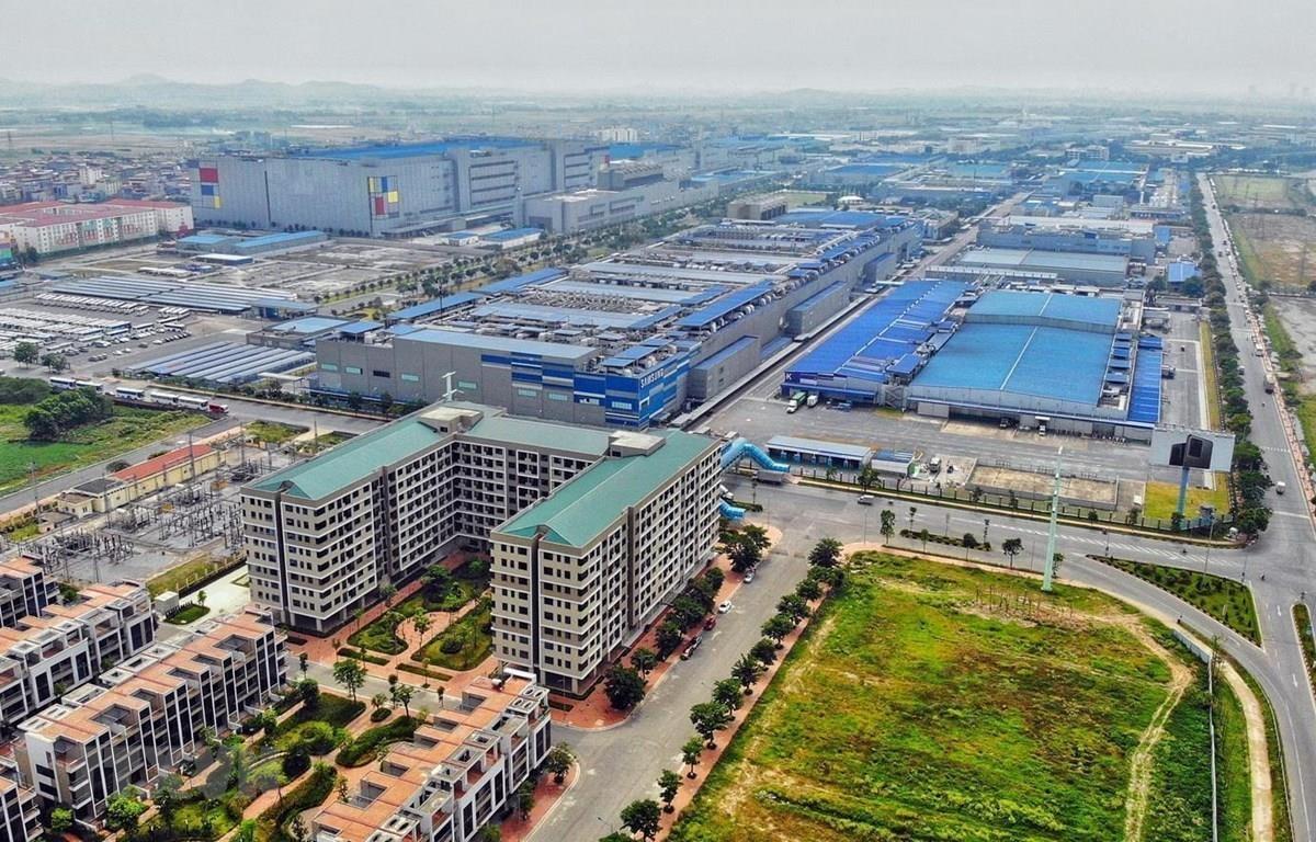 Nhà ở, nhà cho công nhân thuê tại khu công nghiệp Yên Phong, Bắc Ninh. (Ảnh: Danh Lam/TTXVN)
