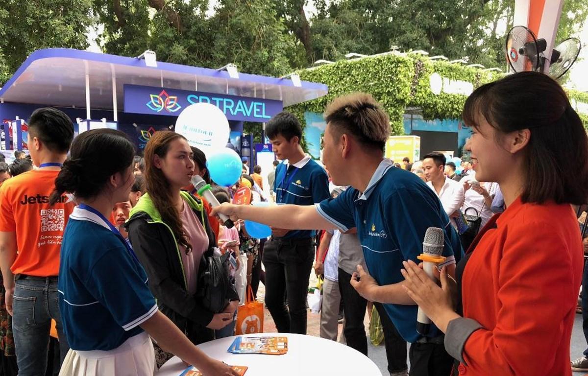 Hãng hàng không Vietnam Airlines và Jetstar Pacific sẽ mạng đến nhiều khuyến mãi hấp dẫn tại Hội chợ Du lịch Quốc tế Việt Nam 2019. (Ảnh: VNA cung cấp)
