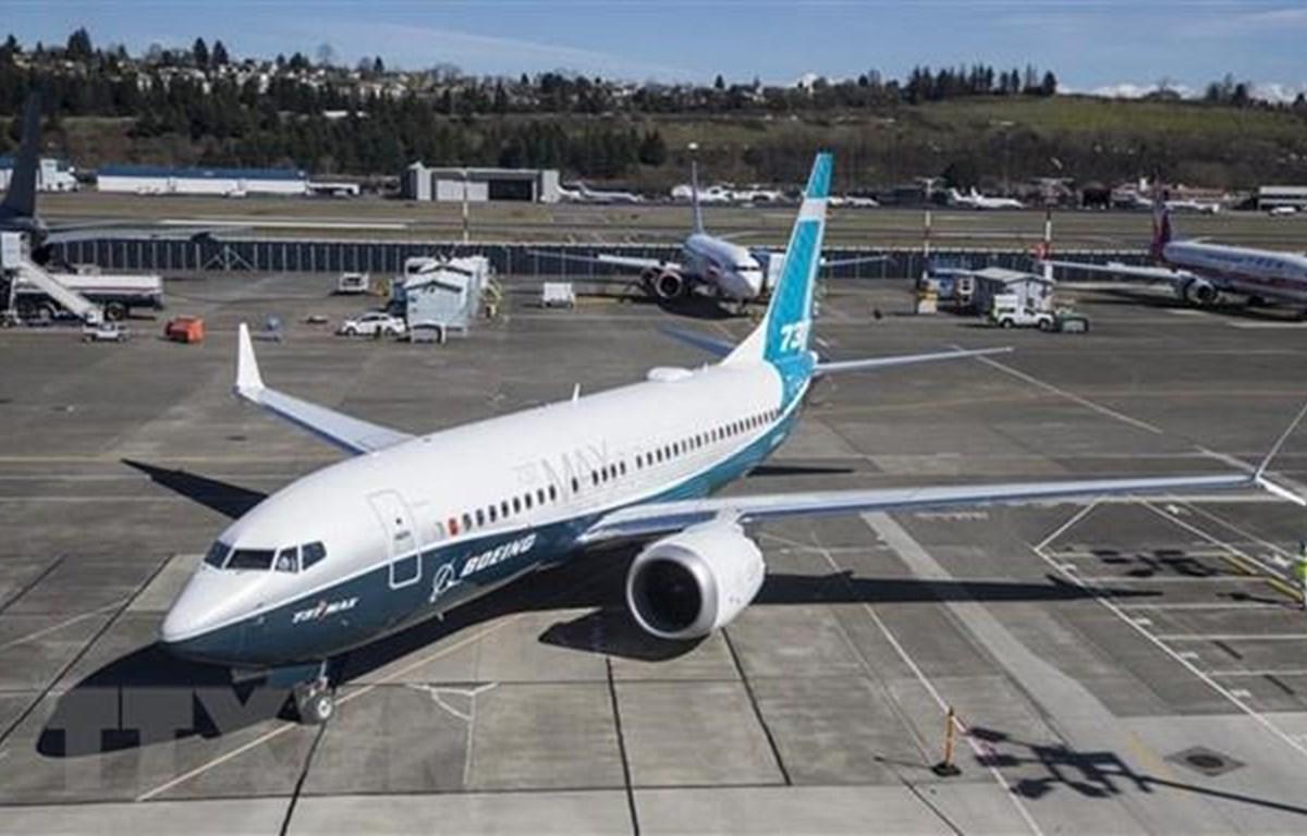 Máy bay Boeing 737 MAX tại nhà máy của Boeing ở Seattle, Washington, Mỹ. (Ảnh: AFP/TTXVN)