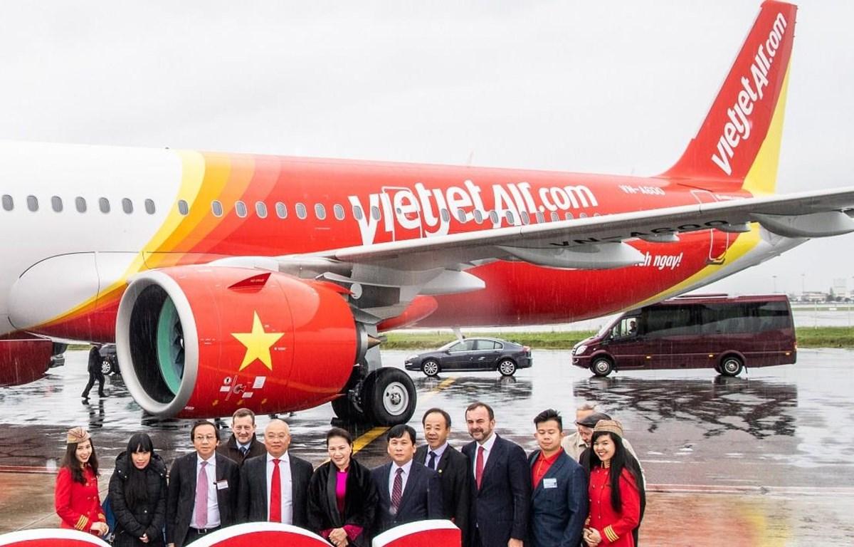 Hãng hàng không Vietjet vừa nhận tàu bay A321neo mang số hiệu VN-A600. (Ảnh: Vietjet cung cấp)