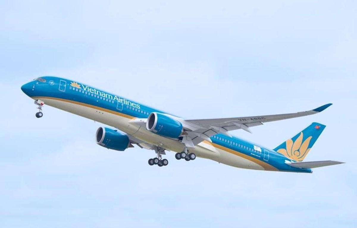 Máy bay Airbus A350 của hãng hàng không Vietnam Airlines. (Ảnh: Anh Tuấn)