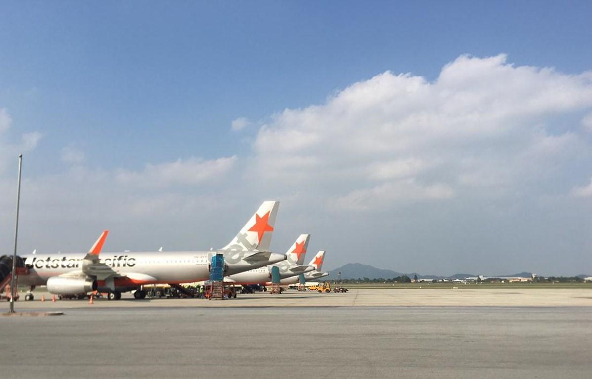 Máy bay của hãng hàng không Jetstar Pacific. (Ảnh: Tiến Sỹ/Vietnam+)