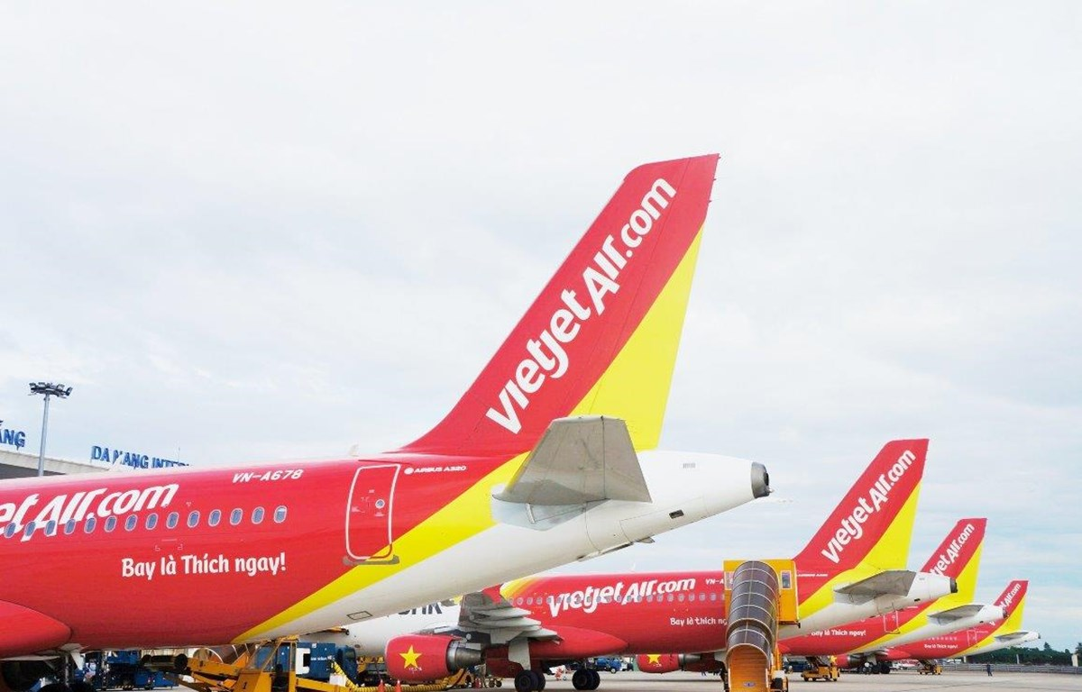 Máy bay của hãng hàng không Vietjet. (Ảnh: Mai Anh)