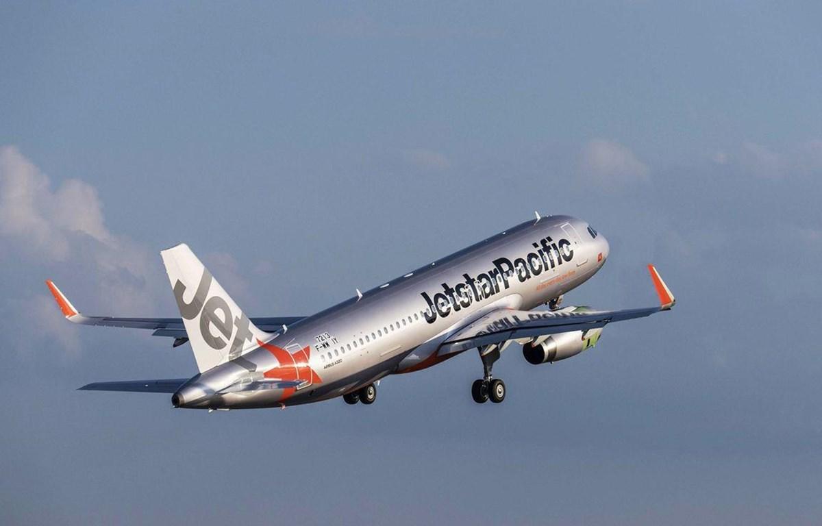 Máy bay của hãng hàng không Jetstar Pacific. (Ảnh: Tiến Sỹ)