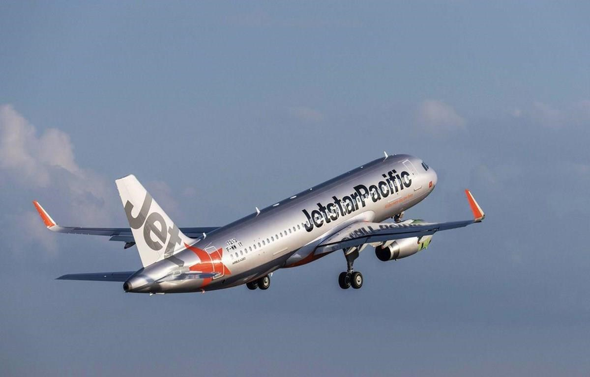 Máy bay của hãng hàng không Jesstar Pacific. (Ảnh: Tiến Sỹ)