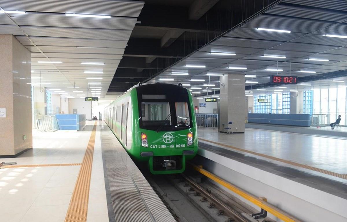 Dự án đường sắt đô thị Cát Linh-Hà Đông vẫn chưa thể đưa vào khai thác vận hành thương mại. (Ảnh: Việt Hùng/Vietnam+)