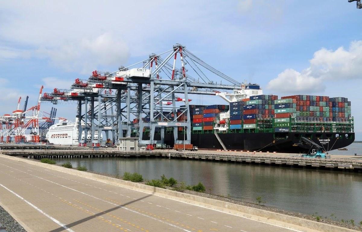 Cảng Cái Mép ở tỉnh Bà Rịa-Vũng Tàu. (Ảnh: Mạnh Dương/TTXVN)