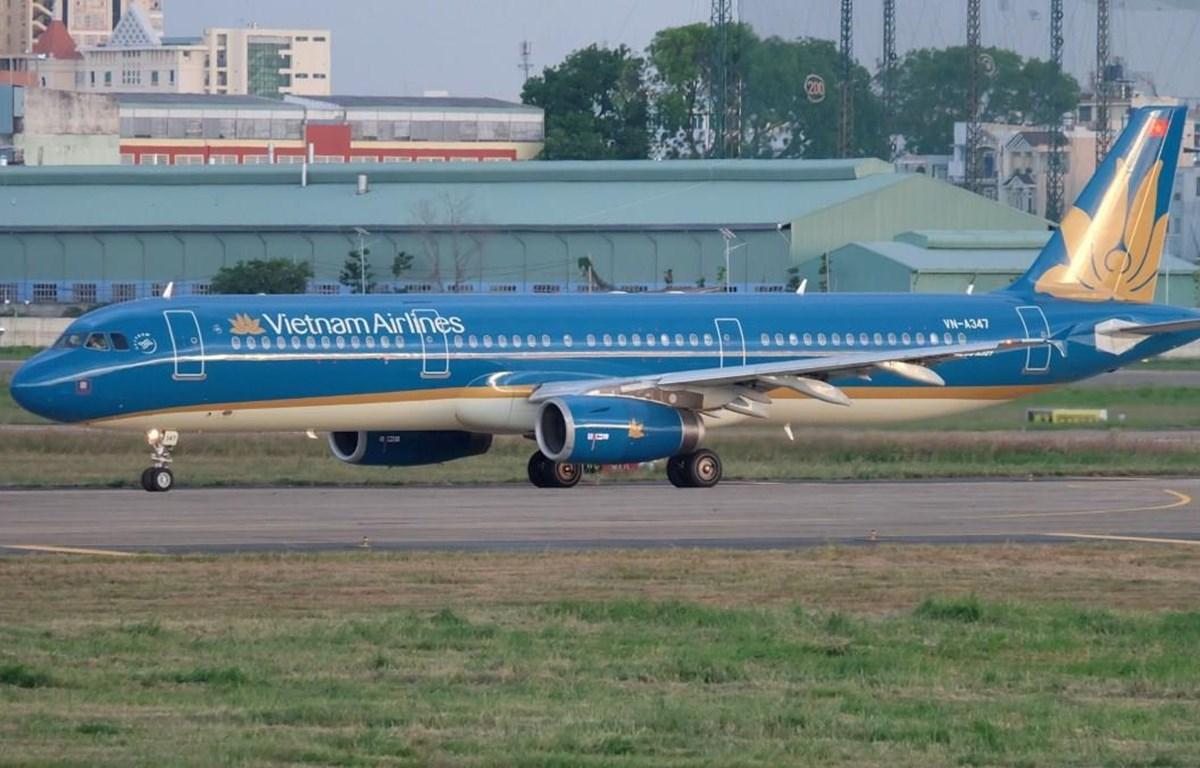 Máy bay của hãng hàng không Vietnam Airlines. (Ảnh: Trang Trịnh)
