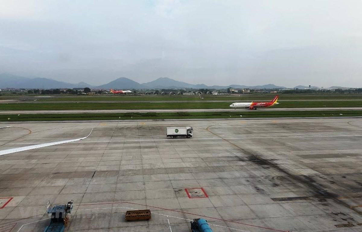 Máy bay của hãng hàng không Vietjet Air. (Ảnh: Việt Hùng/Vietnam+)