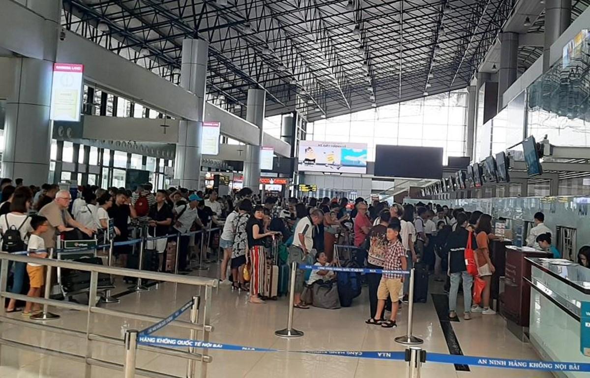 Thị trường hàng không Việt đã có tốc độ tăng trưởng chậm lại trong sáu tháng của năm nay so với cùng kỳ năm 2018. (Ảnh: Việt Hùng/Vietnam+)