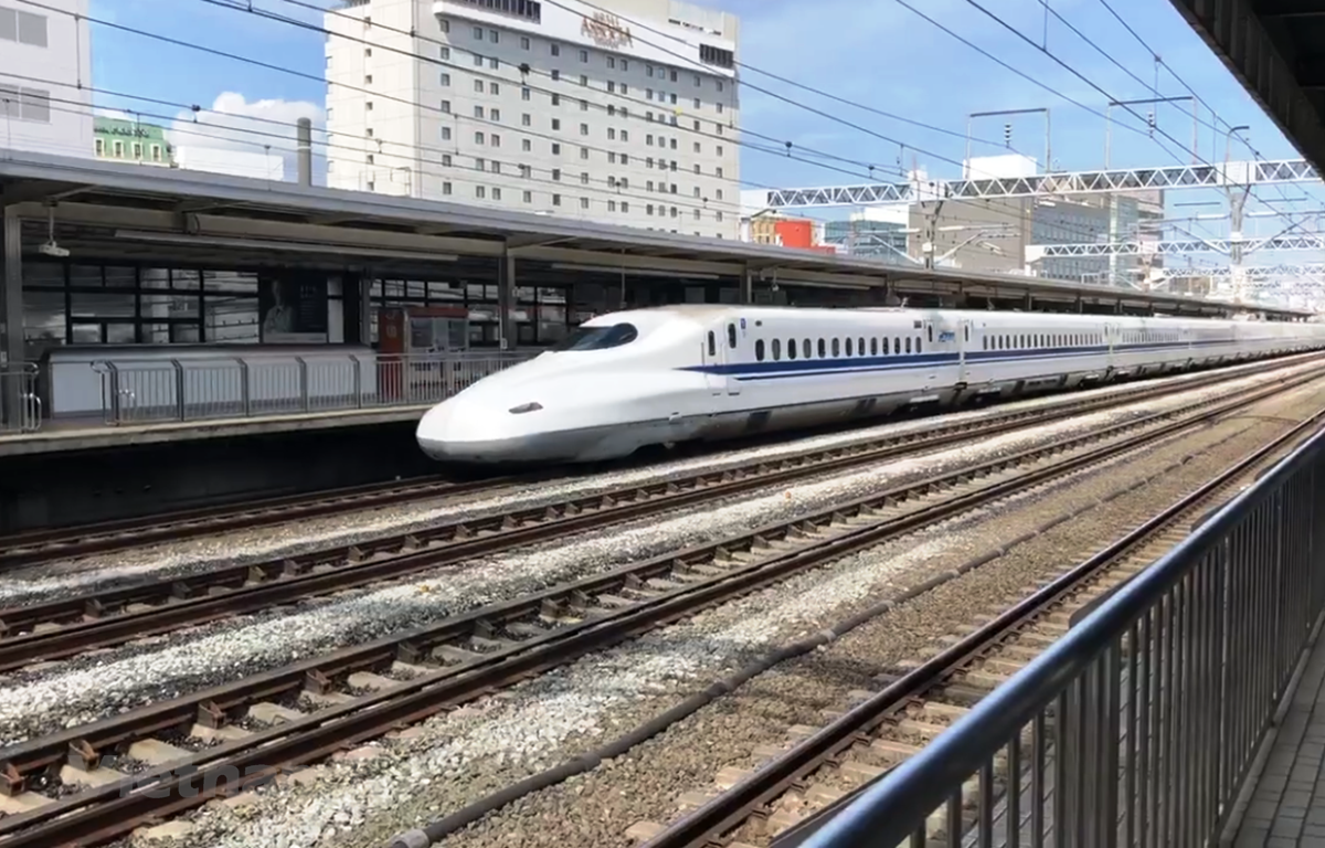 Tuyến đường sắt tốc độ cao của Nhật Bản. (Ảnh: Việt Hùng/Vietnam+)