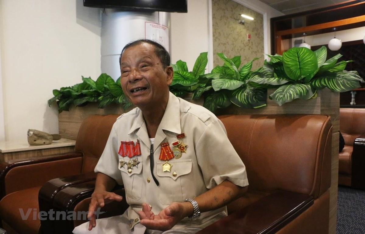 Ông Lý Hồng Sơn, cựu tù binh Côn Đảo trong dịp tham dự Hội nghị biểu dương thương binh nặng tiêu biểu toàn quốc năm 2019. (Ảnh: Anh Tuấn/Vietnam+)