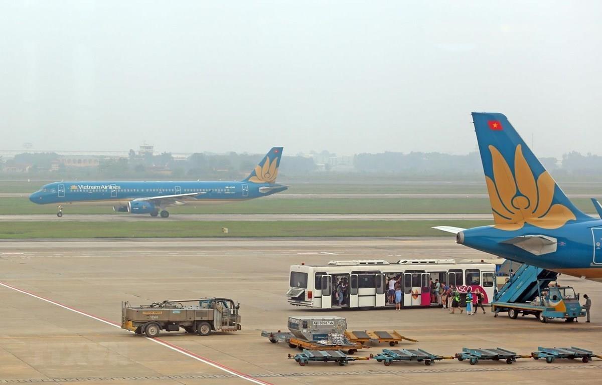 Máy bay của Vietnam Airlines. (Ảnh: Huy Hùng/TTXVN)