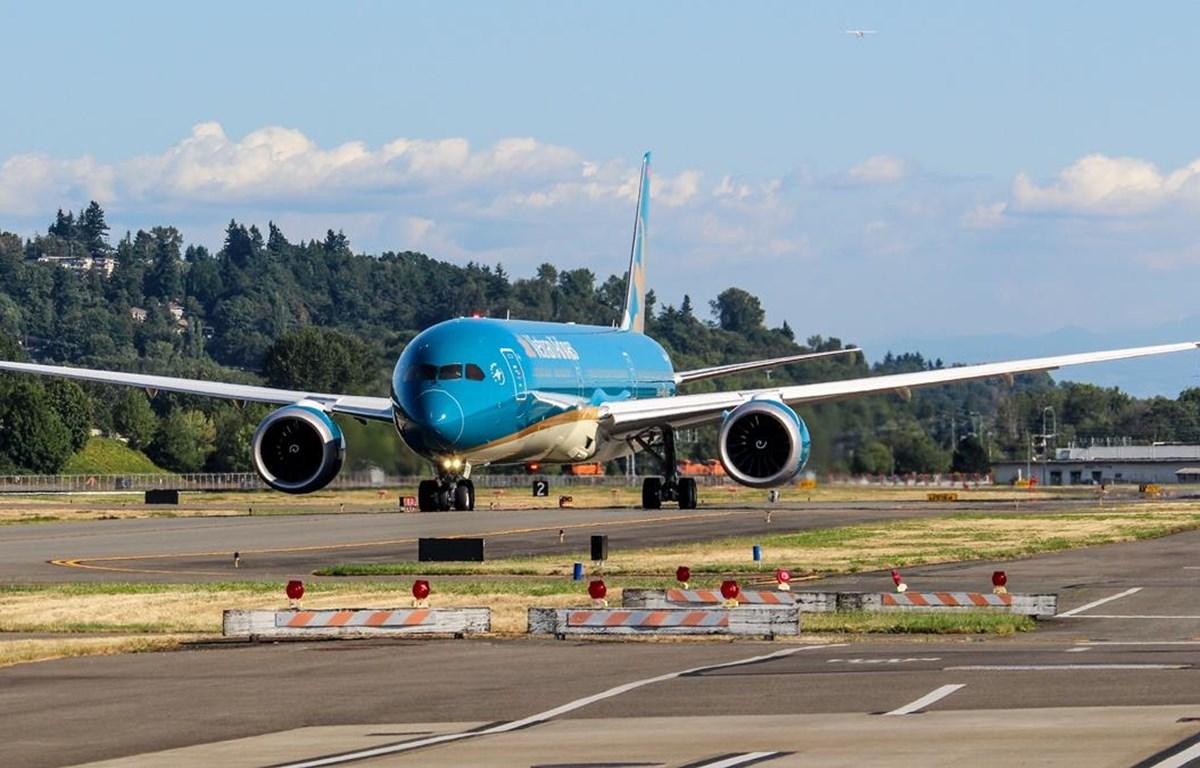 Chiếc máy bay lớn nhất Việt Nam Boeing 787-10 sẽ đáp xuống sân bay Nội Bài vào tối 16/8. (Ảnh: VNA cung cấp)