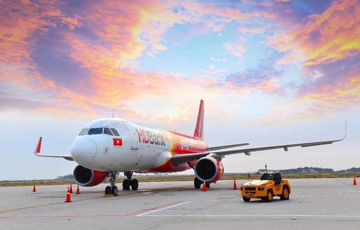 Máy bay của hãng hàng không Vietjet. (Ảnh: VJ cung cấp)