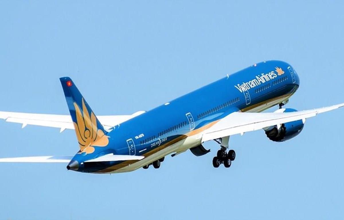 Máy bay Boeing 787-10 được khai thác trên đường bay nội địa giữa Hà Nội-Thành phố Hồ Chí Minh. (Nguồn ảnh: VNA)