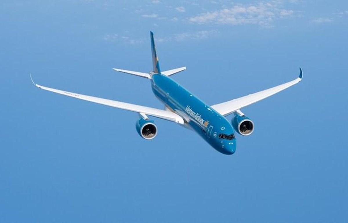 Đội máy bay A350 được Vietnam Airlines triển khai cung cấp dịch vụ wifi từ ngày 10/10 tới. (Ảnh: Trang Trịnh/Vietnam+)