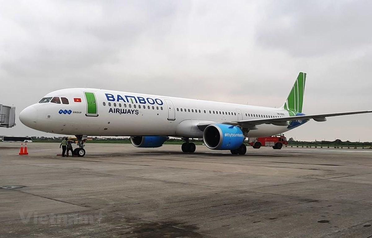 Máy bay của hãng hàng không Bamboo Airways. (Ảnh: Việt Hùng/Vietnam+)
