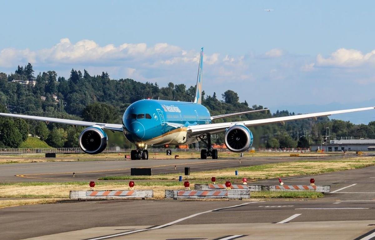 Chiếc máy bay lớn nhất Việt Nam Boeing 787-10 đã gia nhập đội tàu bay Vietnam Airlines. (Ảnh: VNA cung cấp)
