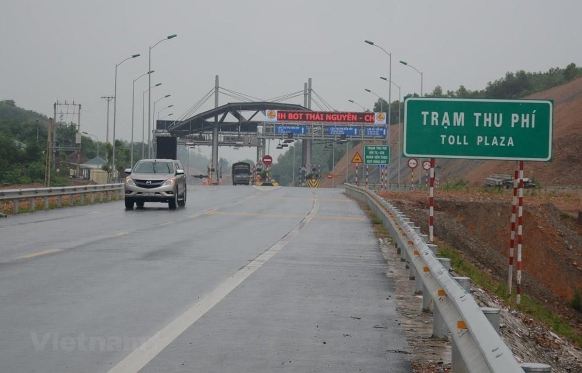 Trạm thu phí BOT Bờ Đậu (Km77+922,5) trên Quốc lộ 3 dự án BOT Thái Nguyên-Chợ Mới. (Ảnh: Việt Hùng/Vietnam+)