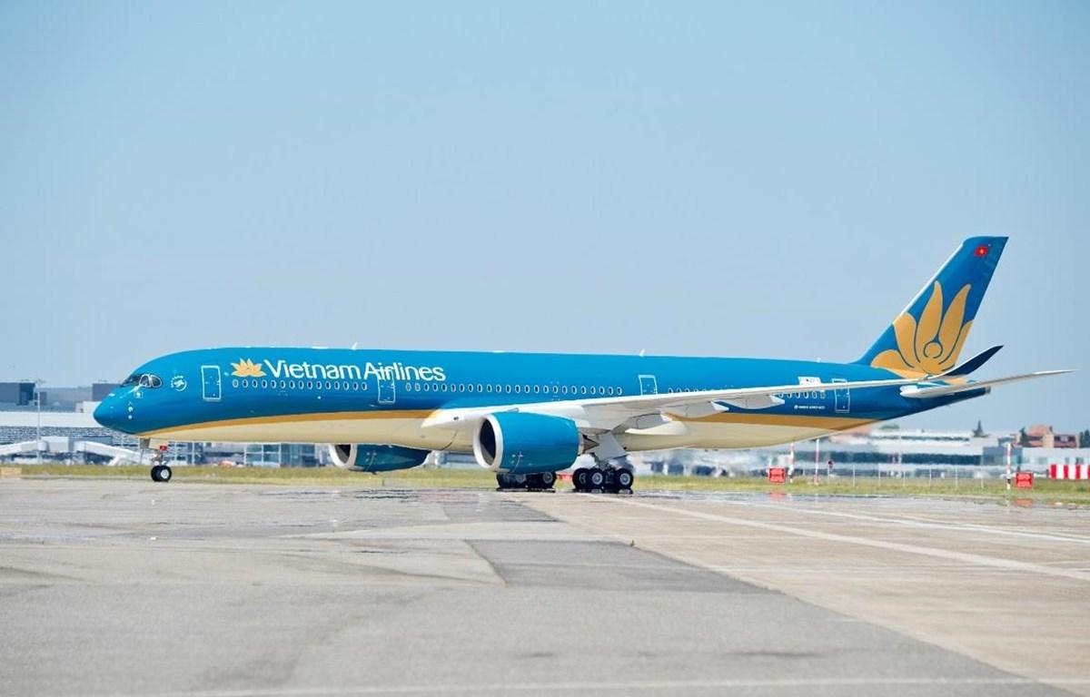 Máy bay Airbus A350 của Vietnam Airlines. (Ảnh: Anh Tuấn/Vietnam+)