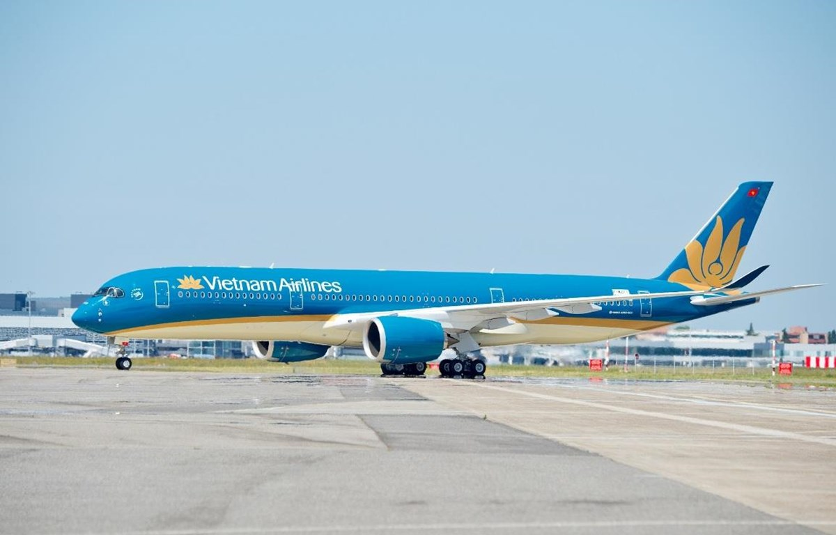 Máy bay của hãng hàng không Vietnam Airlines. (Ảnh: Anh Tuấn/Vietnam+)
