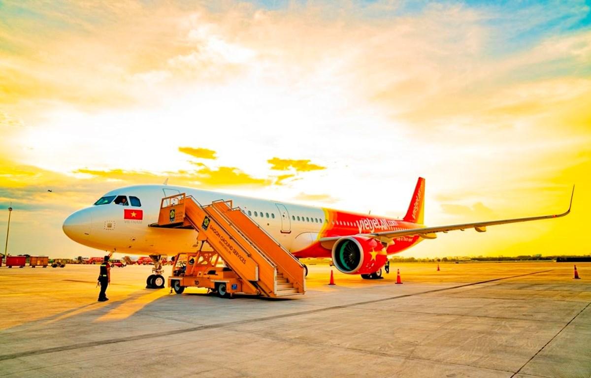 Hãng hàng không Vietjet sắp đón chào hành khách thứ 100 triệu. (Ảnh: CTV/Vietnam+)