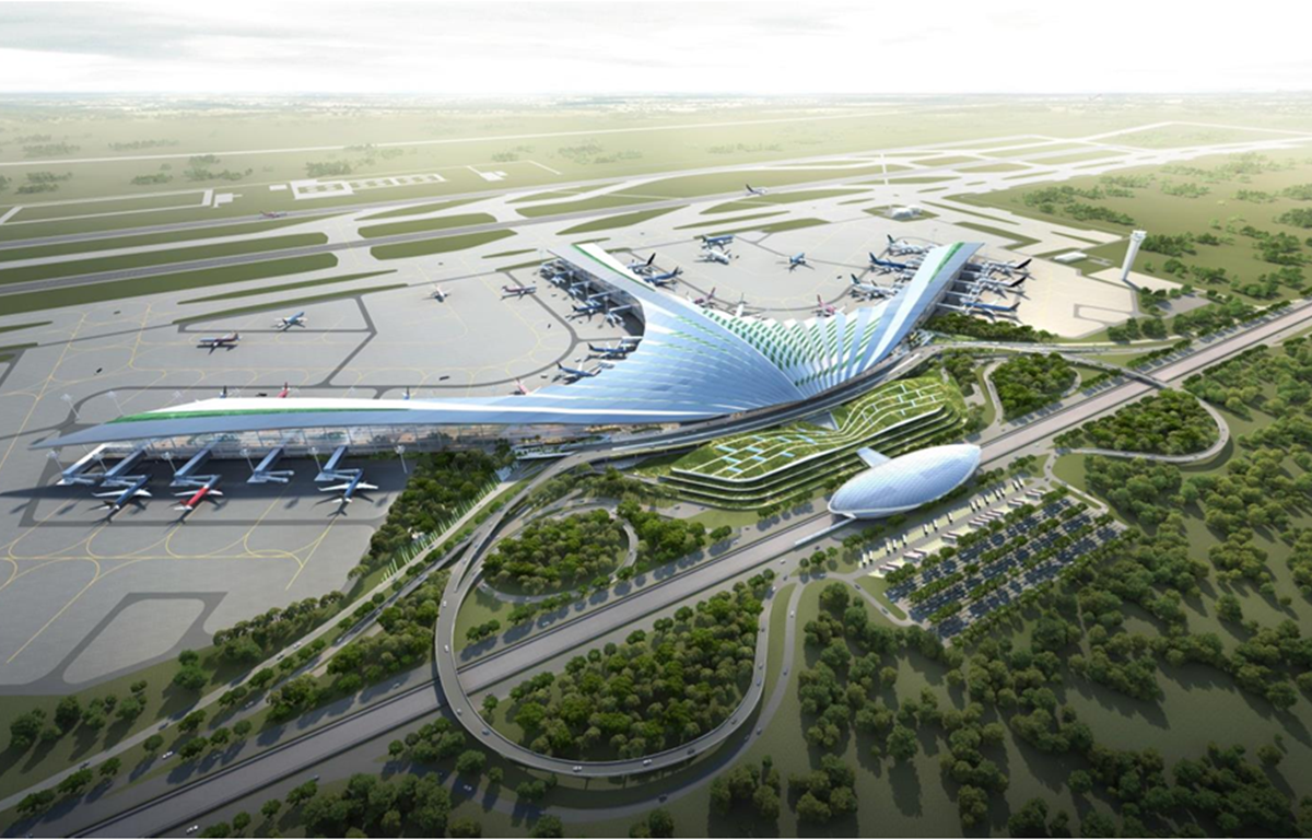 Phương án thiết kế kiến trúc sân bay Long Thành. (Nguồn ảnh: ACV)
