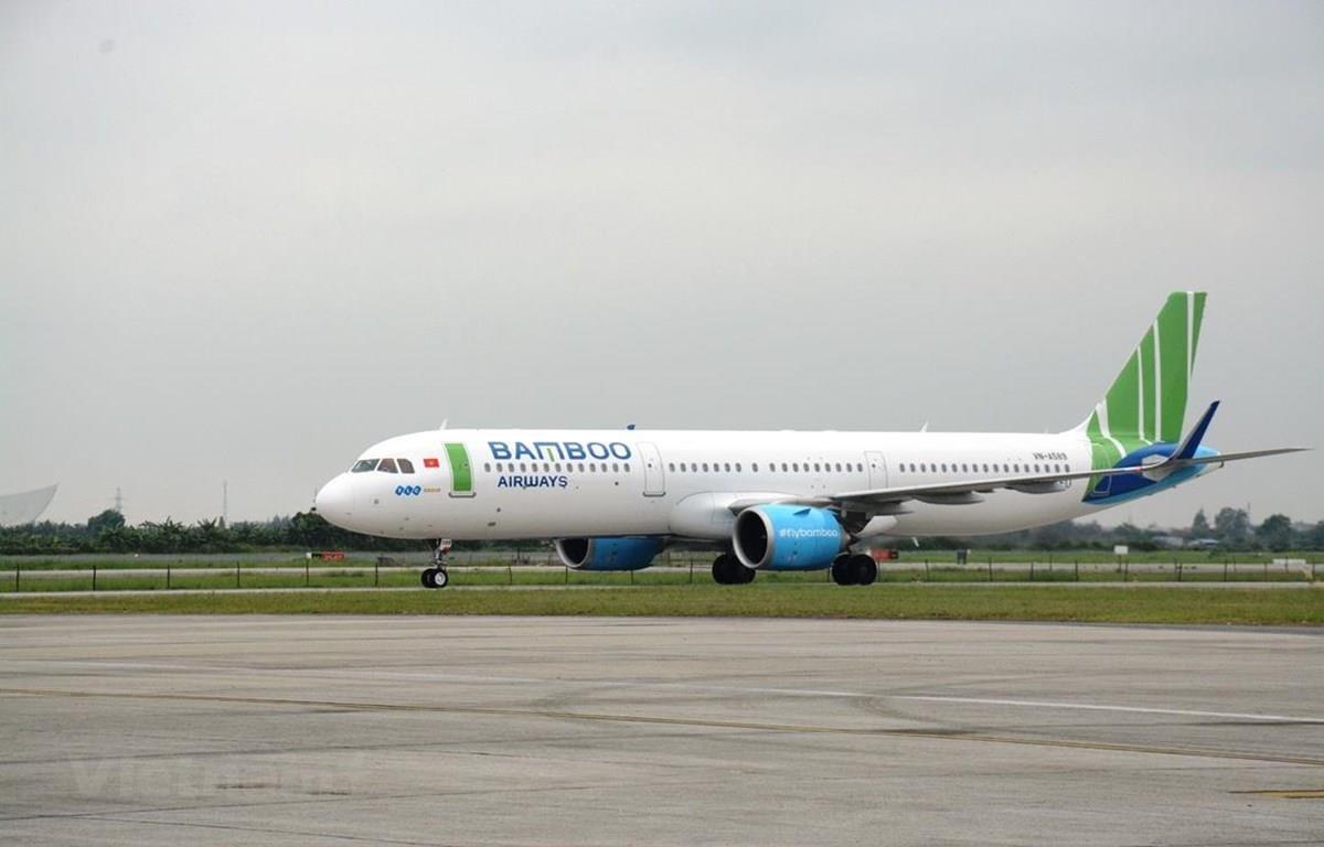 Máy bay của hãng hàng không Bamboo Airways. (Ảnh: Việt Hùng/Vietnam)