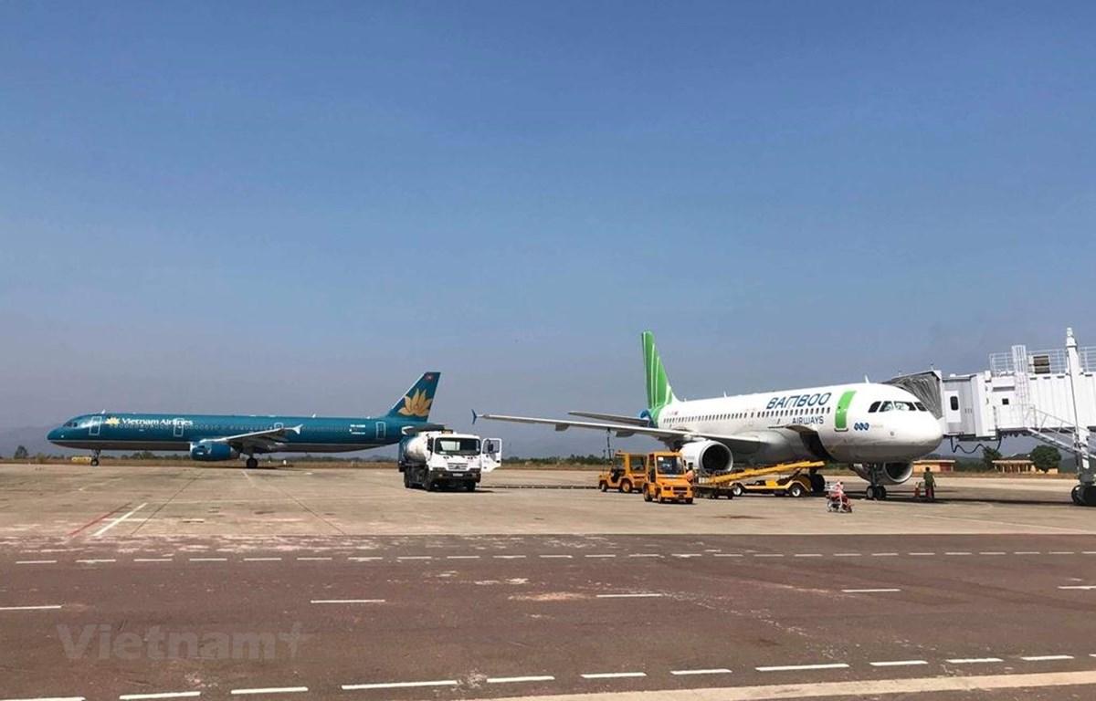 Hai hãng hàng không Vietnam Airlines và Bamboo Airways đang có kế hoạch và đưa ra lộ trình bay thẳng tới Mỹ. (Ảnh: Việt Hùng/Vietnam+)