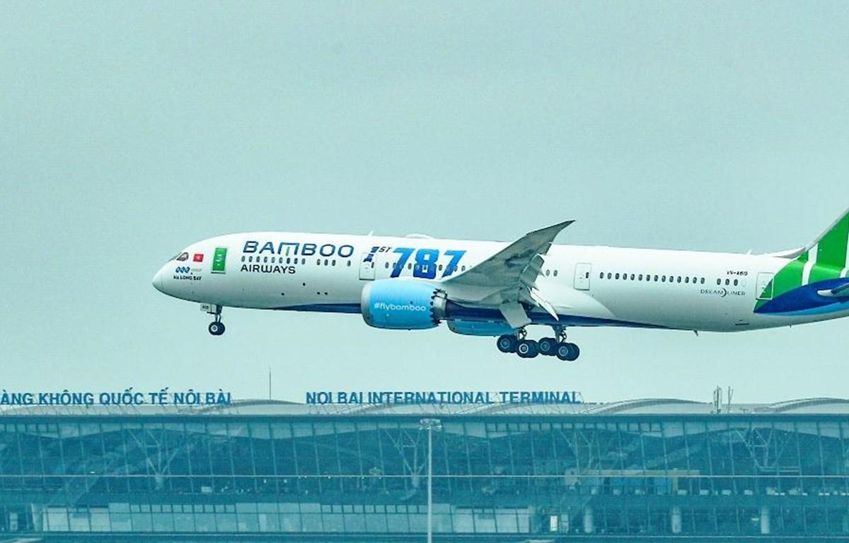 Dự kiến đến cuối năm 2020, Bamboo Airways sẽ khai thác 50 máy bay, với 12 trong số đó là Boeing 787-9. (Ảnh: CTV/Vietnam+)