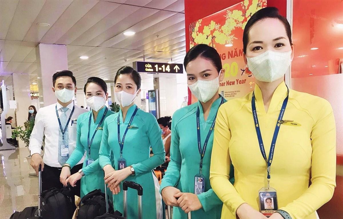 Hai hãng hàng không Vietnam Airlines và Jetstar Pacific luôn sẵn sàng ứng phó mọi trước tình huống liên quan đến virus Corona. (Ảnh: CTV/Vietnam+)